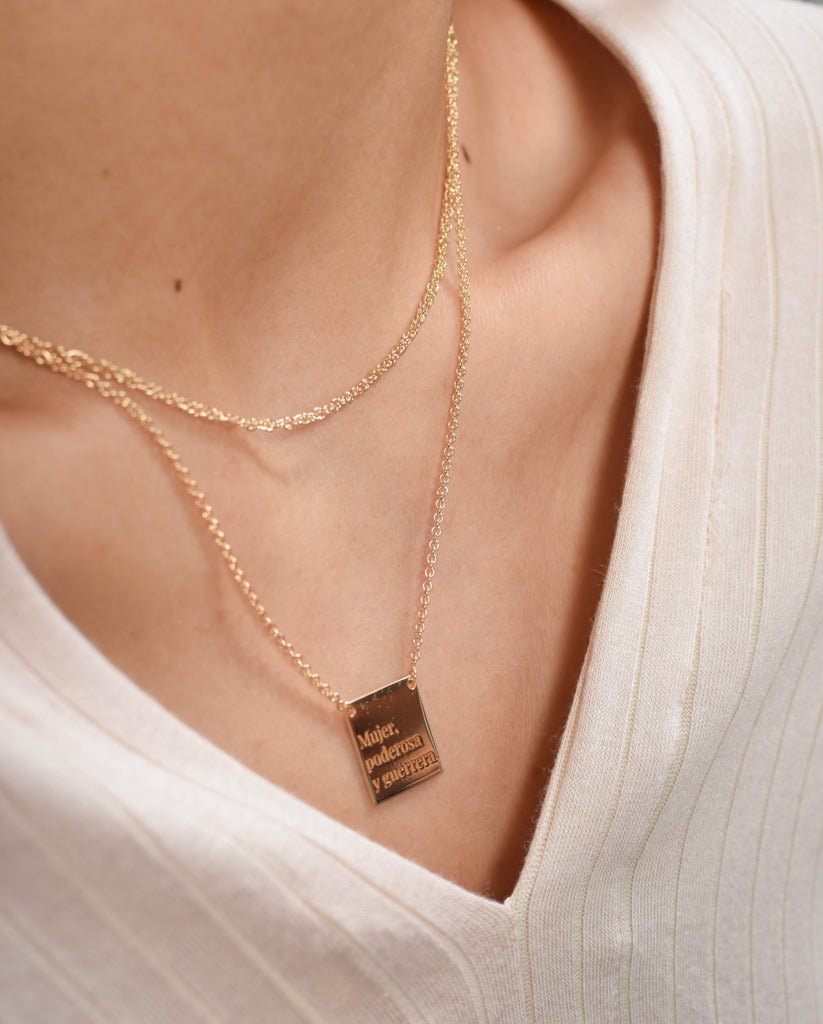 Collar Cartel Mujer Gold
