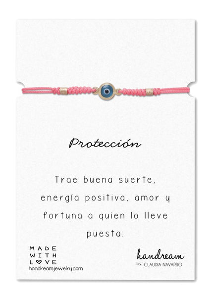 Pulsera Ojo Med - Gold Chicle/Turq