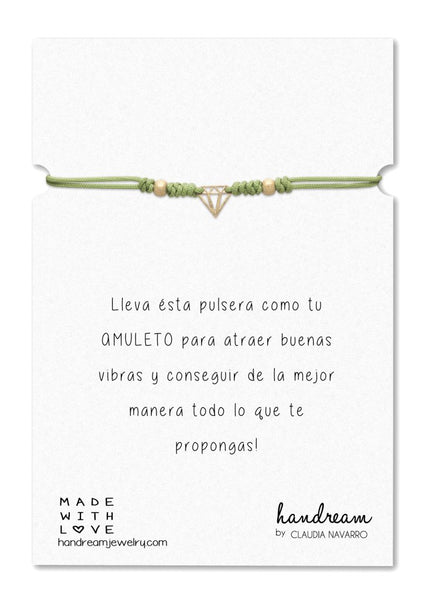 Pulsera Hilo Diamante - Gold Limon