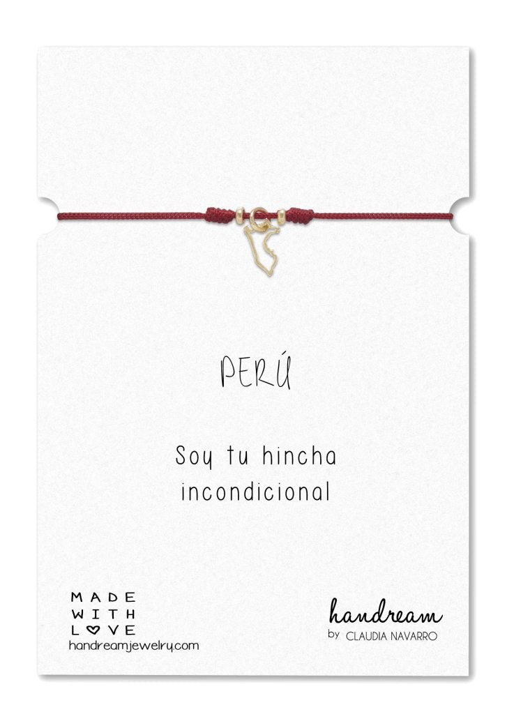 Pulsera Hilo Mini Mapa - Gold