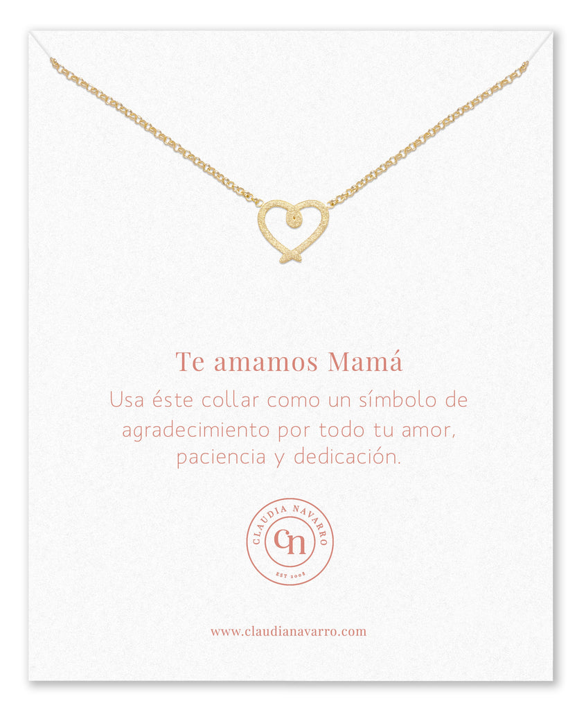 Collar Corazon Entorchado MAMA Gold