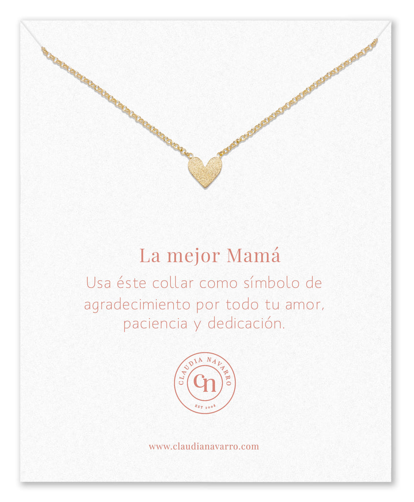Collar Corazon Entero MAMA Gold