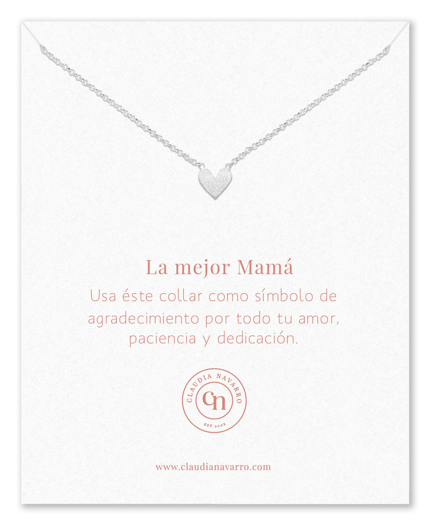 Collar Corazon Entero MAMA Silver