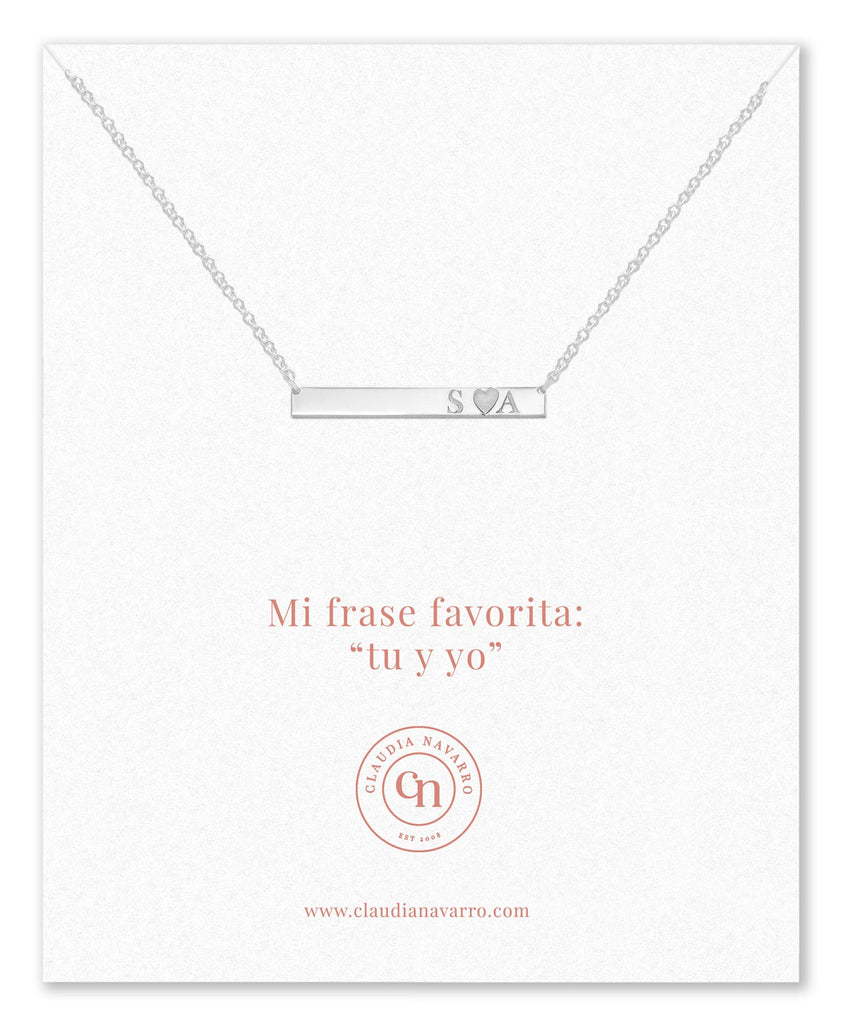 Collar Love Bar Silver