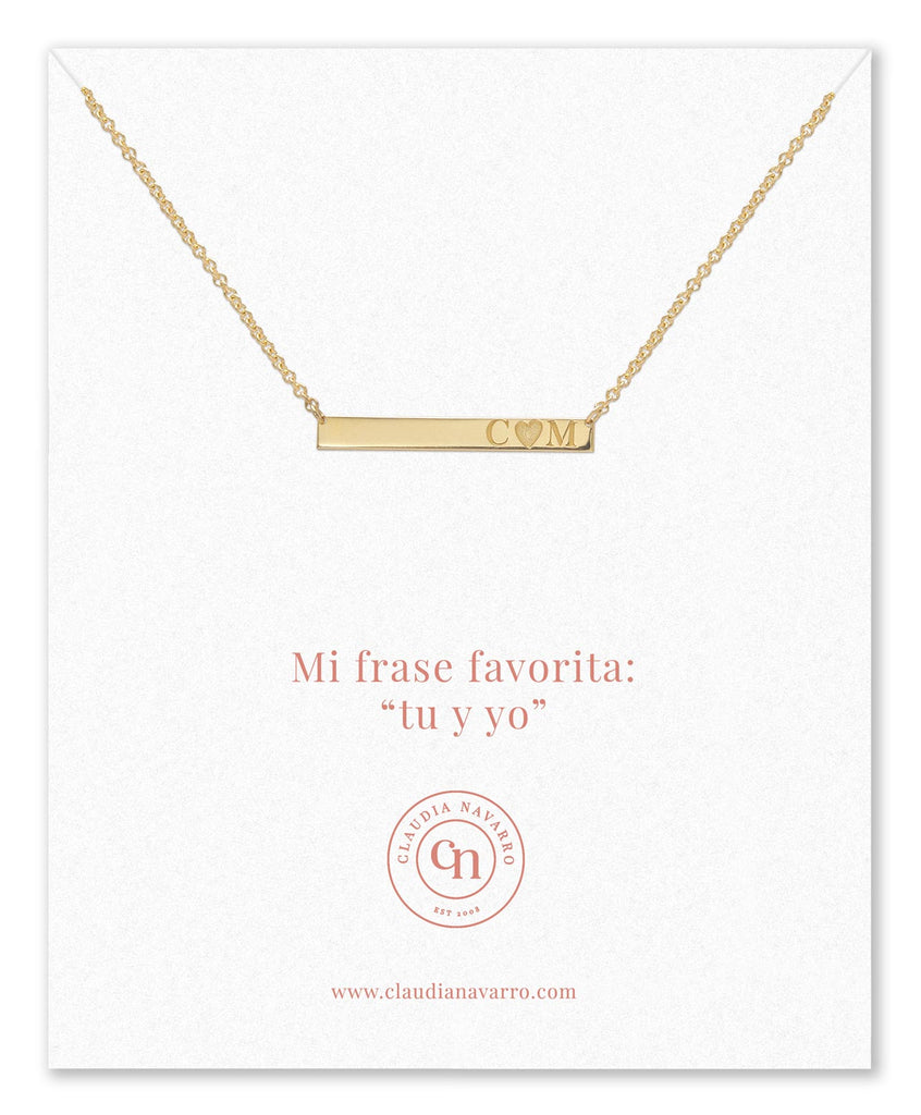 Collar Love Bar Gold