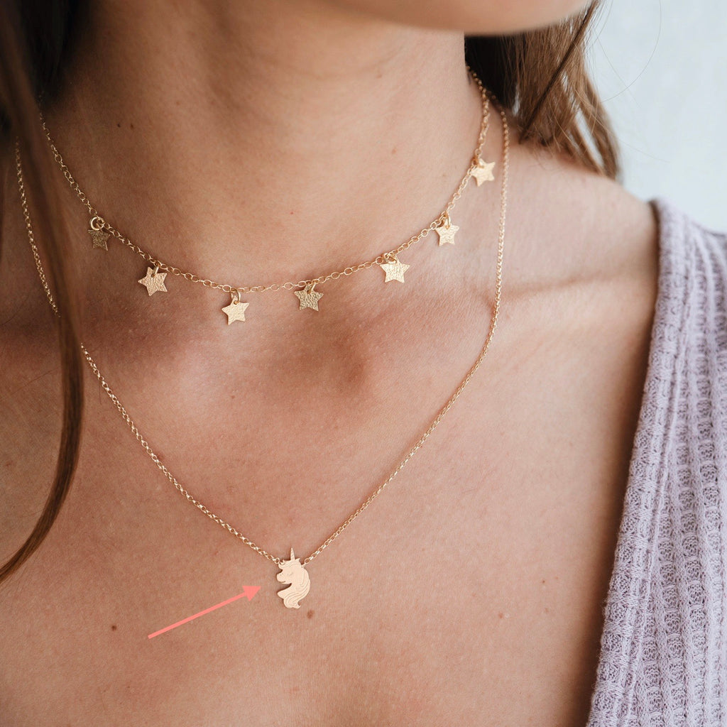 Collar Unicornio Gold