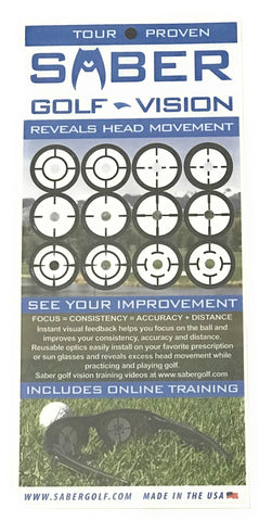 1 Saber Golf Vision Optics Training Aid for any Glasses