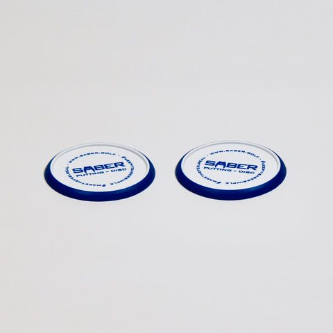 1 Saber Golf Putting Discs - Set of 2 Training Aid