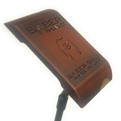 Custom - Wood Grain Finish - Saber Golf Stability Core Putter - By Saber Golf