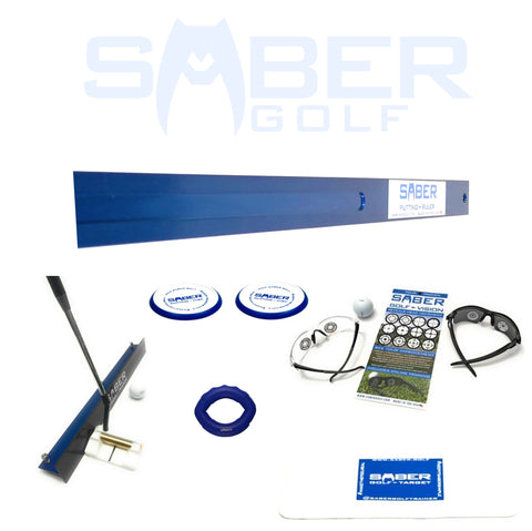 1 Amazing Saber Golf Deluxe Training Aid Putting Performance Pack - Bundle and Save