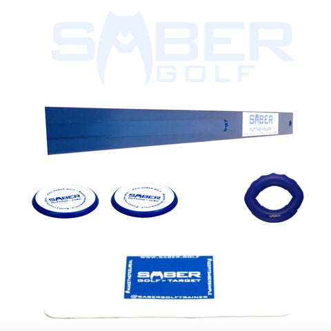 1 Amazing Saber Golf Putting Basic Training Aid Performance Pack - Bundle and Save