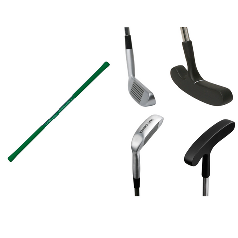 Perfect kids Saber golf training aid with putter and chipper custom sized combo set