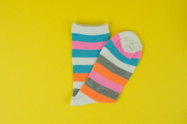 Bright Mixed Stripe Sock
