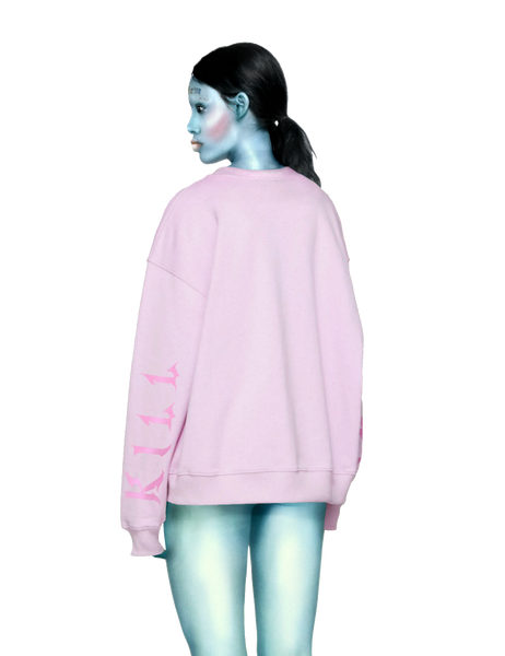 Oversized KILL BABE Sweater in Pink
