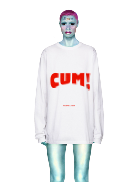 C*M Long Sleeve tee in white