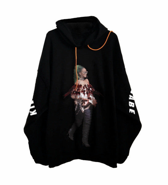 HIGH AT THE MET BALL Print hoodie