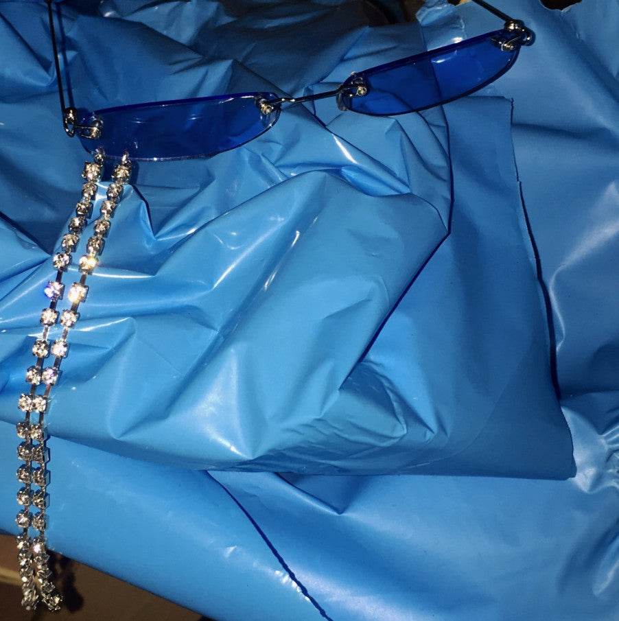 Custom Shades with Rhinestone Length