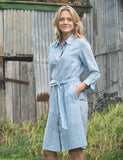 Kit belted shirt dress