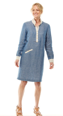 Sunday linen shirt dress