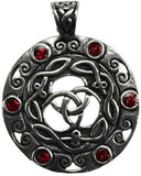 celtic knot with stones