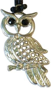 owl wisdom and healing powers amulet