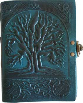 "5"" x 6 1/2"" Blue Tree leather w/ latch"