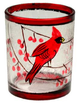 Cardinal votive holder