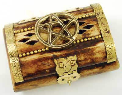 "Pentagram Bone Chest 3""x2"""