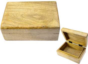 Natural wood box 4x6