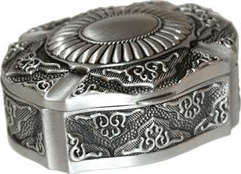 "2"" x 3"" Oval pewter"