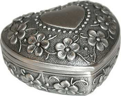 heart pewter box