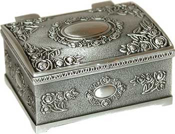 "1 3/4"" x 2 1/2"" Rectangular pewter"