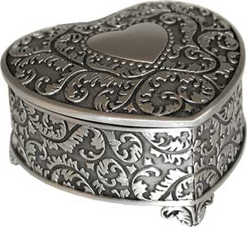 "3"" Heart pewter"
