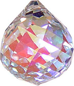 30 mm Aura faceted crystal ball