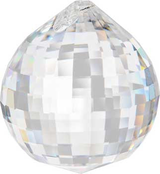 30 mm Disco faceted crystal ball