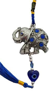 Elephant Evil Eye wall hanging with tassel