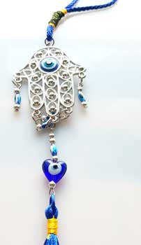 Hand Evil Eye wall hanging 12""