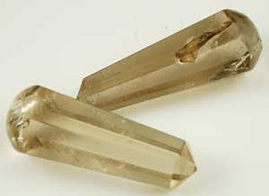 6-Faceted Smoky Quartz massager