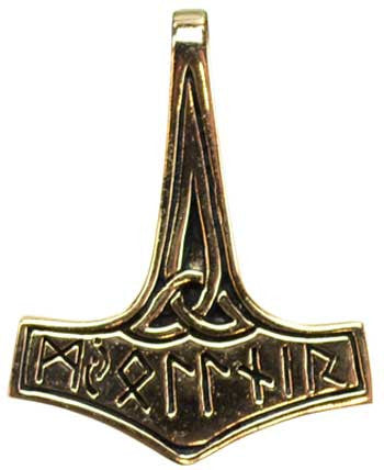 Thors Hammer bronze with triquetra