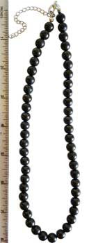 8mm Shungite necklace