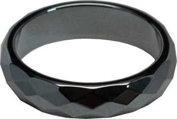 6mm Hematite Faceted rings 50/bag
