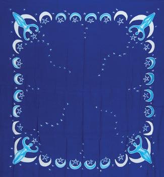 goddess cloth blue 3 x 3