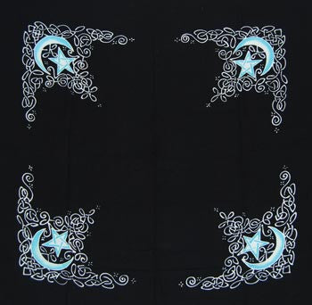 celtic moon cloth 3 x 3