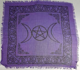 triple moon withpentagram cloth 18 x 18