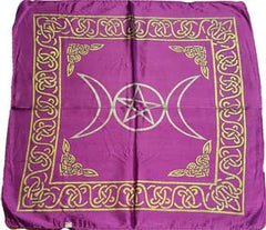 purple rayon triple moon cloth