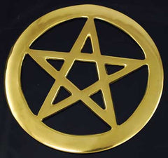 brass cut out pentagram 4