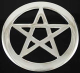 pentagram altar tile 4 silver plated