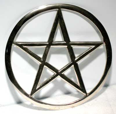 cut out pentagram altar tile 5 3 4