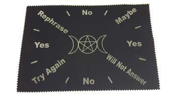 Triple Moon Pentagram pendulum mat