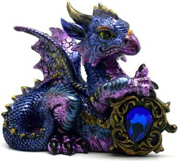 Blue Dragon with Stone 4""